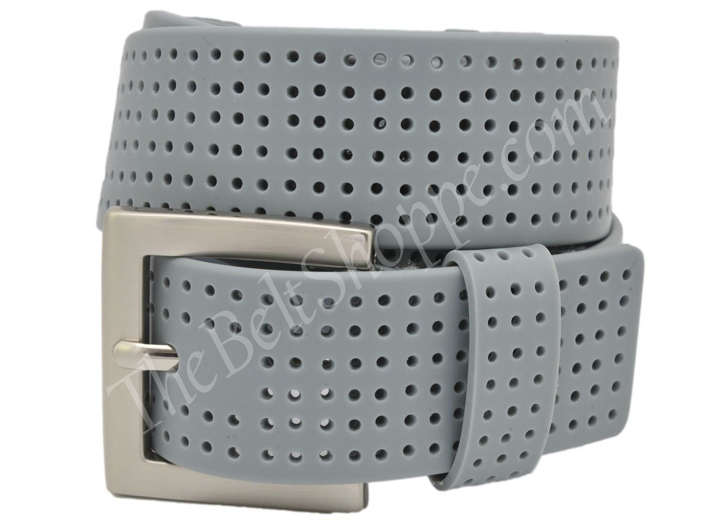 pga tour men u0026 39 s gray grey perforated silicone golf belt