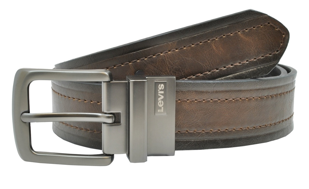 levi s distressed genuine leather reversible belt