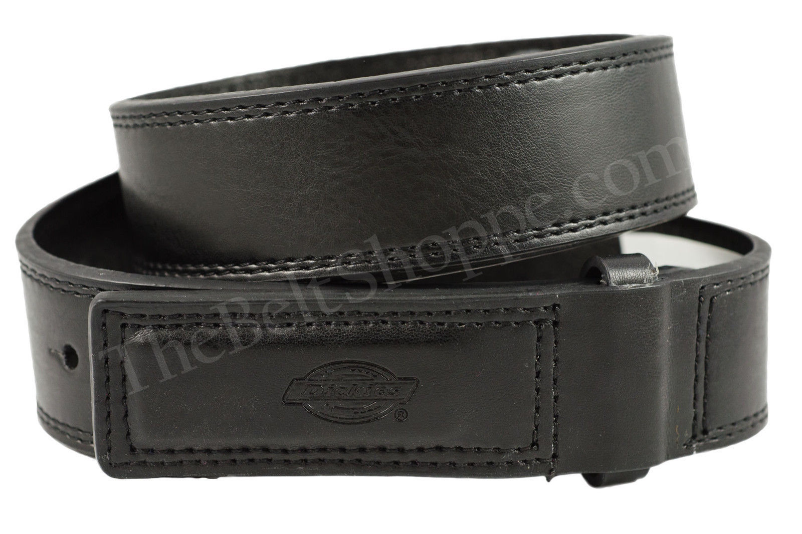 dickies mechanics no scratch black leather work belt sz