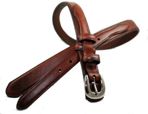 s brown leather ranger belt by g bar d roper sizes