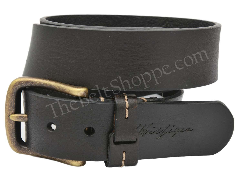tommy hilfiger men 39 s pull up bridle genuine leather belt black 32 44 new ebay. Black Bedroom Furniture Sets. Home Design Ideas
