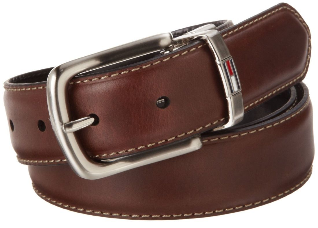 hilfiger s reversible leather dress belt brown